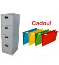 CLASIFICATOR METALIC CU 4 SERTARE 460x620x1325 mm (LxlxH), PLUS+CADOU!!! (10 DOSAR SUSPENDABIL ELBA Verticflex)