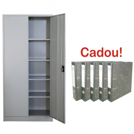 FISET METALIC CU 4 RAFTURI, 900x400x1800 mm, 40 kg/polita, PLUS+CADOU!!! (5 BIBLIORAFT MARMORAT ECONOMY 8 CM)
