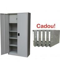 FISET METALIC CU 3 RAFTURI SI CASETA 900x400x1800 cm, 40 kg/polita, PLUS+CADOU!!! (5 BIBLIORAFT MARMORAT ECONOMY 8 CM)