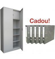 FISET METALIC CU 3 RAFTURI SI SEIF ECO+, 900x400x1800 mm+5 Bibliorafturi Cadou!
