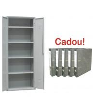 FISET METALIC CU 4 RAFTURI AP80, 800x400x1800 mm (LxlxH), 40 kg/polita+CADOU!!! (5 BIBLIORAFT MARM