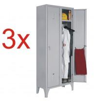 3x VESTIAR METALIC CU PICIOARE SI 2 USI 111/02
