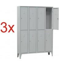 3x VESTIAR METALIC CU PICIOARE SI 8 USI 116/08S