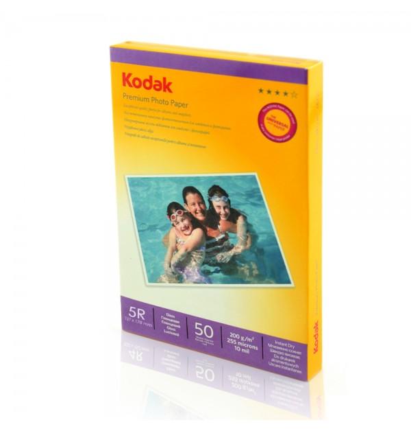HARTIE FOTO KODAK 200 g, 13x18 cm, Glossy, 50 coli