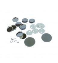 SUBANSAMBLE PRODUCTIE INSIGNE ROTUNDE CU SPATE METALIC DE 25 mm