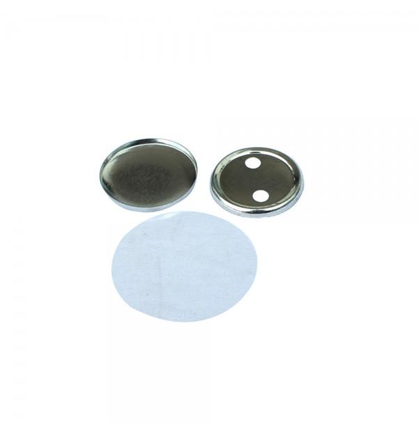 SUBANSAMBLE PRODUCTIE INSIGNE ROTUNDE CU SPATE METALIC DE 32 mm