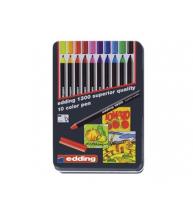Marker special Edding 1300, varf rotund, 3 mm, cutie metalica, 10 bucati/cutie