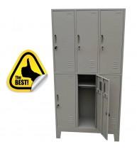 VESTIAR METALIC CU PICIOARE SI 6 USI (3x2) 1000x350x1920 mm (LxlxH), PLUS