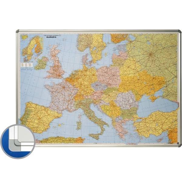 Harta Europei Rutiera Administrativa 85 X 125 Cm Profil