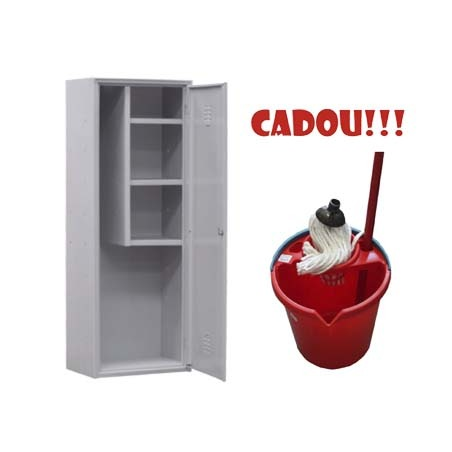 DULAP METALIC OBIECTE CURATENIE AS60 + CADOU!!! (SET: Galeata+Storcator+Mop)