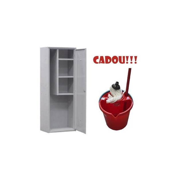 DULAP METALIC OBIECTE CURATENIE AS80 + CADOU!!! (SET: Galeata+Storcator+Mop)