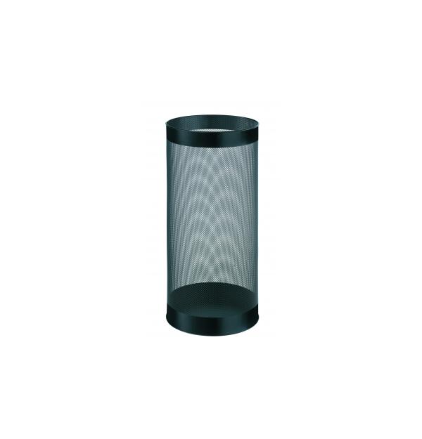 Cos metalic cu perforatii, forma rotunda, 28.5 litri, ALCO - negru