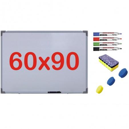 Pachet Tabla alba magnetica, 60x90 cm Premium