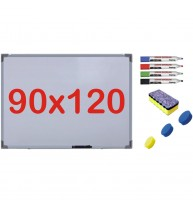 Pachet Tabla alba magnetica, 90x120 cm Premium