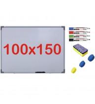 Pachet Tabla alba magnetica, 100x150 cm Premium