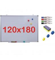 Pachet Tabla alba magnetica, 120x180 cm Premium
