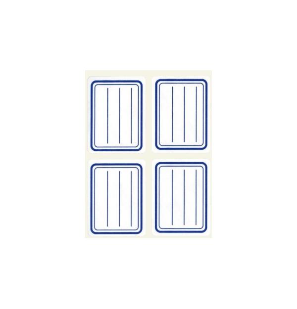 Etichete autoadezive Apli scolare, 5 coliset, 20 eticheteset, 38x50mm, liniate, albastre