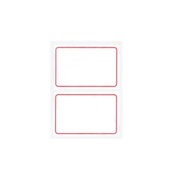Etichete autoadezive Apli scolare, 6 coliset, 12 eticheteset, 52x78mm, bordura rosie