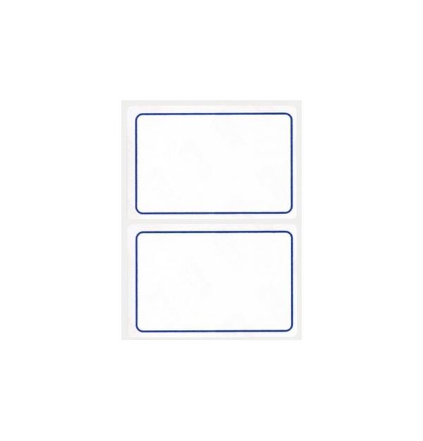 Etichete autoadezive Apli scolare, 6 coliset, 12 eticheteset, 52x78mm, bordura albastra