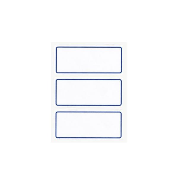 Etichete autoadezive Apli scolare, 6 coliset, 18 eticheteset, 34x78mm, bordura albastra