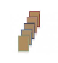 PANOU PLUTA 40x60 CM MEMOBOARDS, rama lemn color