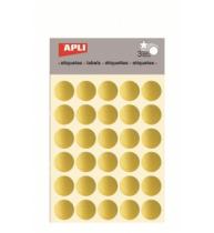 Etichete autoadezive Apli rotunde, 3 coli/set, 90 etichete/set, 20mm, aurii