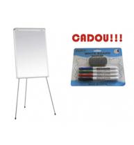 FLIPCHART MAGNETIC SMART 70x100 cm + CADOU!!! (SET 4 MARKER WHITEBOARD + BURETE)