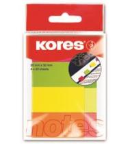 Notes Adeziv 20 x 50 mm 4 Culori x 50 File Kores