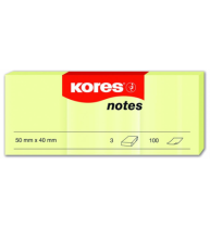 Notes Adeziv 40x50 mm Galben Pal 3x100 File Kores