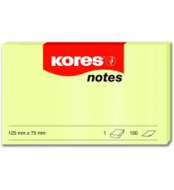Notes Adeziv 75x125 mm Galben Pal 100 File Kores
