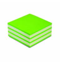 Notes adeziv 50x50mm alb/verde Neon 250 File Noki
