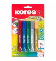 Lipici Glitter 5 Culorix10.5ml Kores