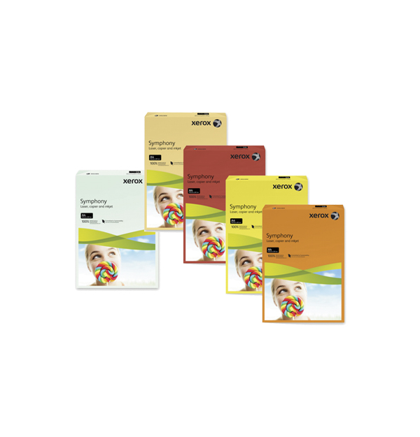 HARTIE COLOR XEROX SYMPHONY A3,  80 g/mp, culori pastel