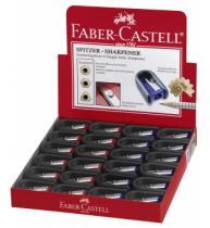 Ascutitoare Plastic Simpla Cu Cauciuc Rosie/Albastra Faber-Castell