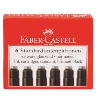 Cartuse Cerneala Mici Negre 6 Buc/Cutie Faber-Castell