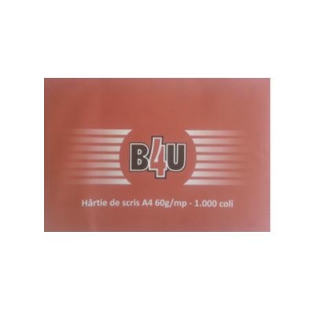 HARTIE DE SCRIS A4, 60 g/mp, 500 coli/top