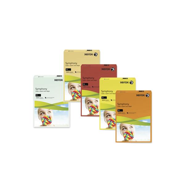 CARTON COLOR XEROX SYMPHONY A4, 160 g/mp, culori intense