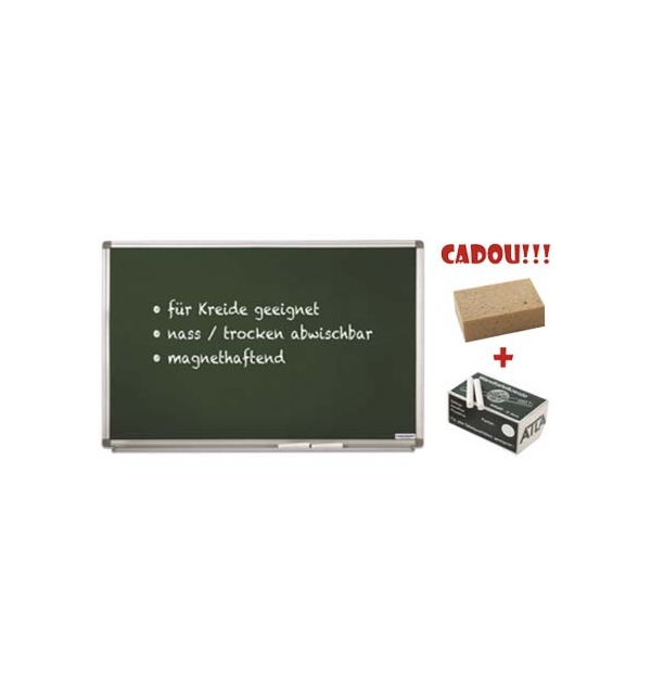 TABLA SCOLARA PT. CRETA MAGNETOPLAN 60X45 cm + CADOU!!! (Burete + 10 buc Creta)