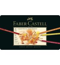 Creioane Colorate Polychromos 60 Culori Cutie Metal Faber-Castell
