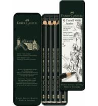 Set 5 Buc Creion Grafit Castell 9000 Jumbo Faber-Castell