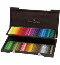 Cutie lemn 120 creioane colorate Polychromos Faber-Castell