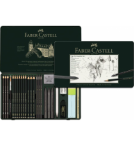 Set Pitt Monochrome Grafit 26 Buc Faber-Castell