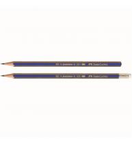 Creion grafit 2B fara guma Goldfaber 1221 Faber-Castell