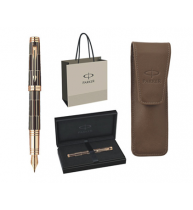 SET STILOU PARKER PREMIER LUXURY BROWN GT+ETUI PARKER, Economic Brown+Punga cadou!