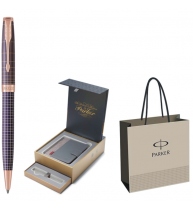 PIX PARKER SONNET ROYAL Chiselled Silver Purple PGT+CUTIE PT. CADOU BRITISH COLLECTION ORGANIZER+PUNGA PT. CADOU