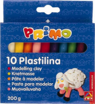 Plastilina Morocolor, 10 culori, 20 g/culoare