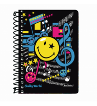 CAIET A6 200F SPIRALA PATRATELE SMILEY WORLD POP