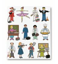 Etichete autoadezive Apli tematice, 3 coli/set, 36 etichete/set, Profesii