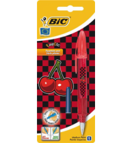 Stilou Bic Easy Clic Cherry, 1 bucata/blister