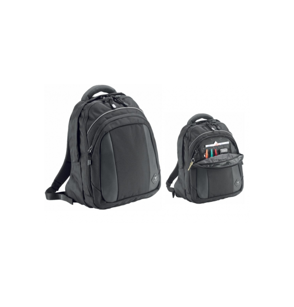"Rucsac laptop 16"" (31x41x16cm), polyester DuraTuff1680, FALCON- negru/gri"